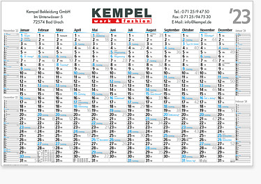 "Plakatkalender ""Edit"" FRK 16"