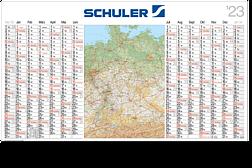 "Landkartenkalender ""Atlant"" LK 14 G"