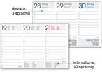 Tischquerkalender Kalendarium rot oder blau